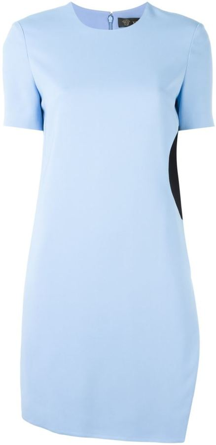 Versace abstract panel cady dress