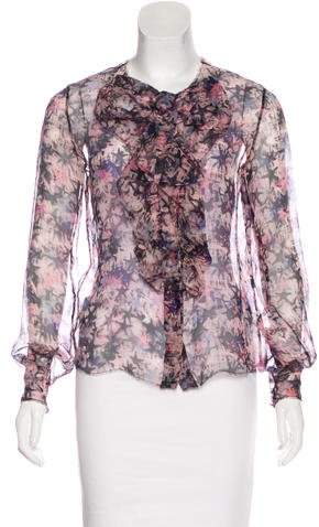 Chanel Silk Printed Blouse