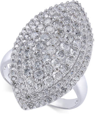 Macy's Diamond Marquise Cluster Statement Ring (2 ct. t.w.) in 14k White Gold