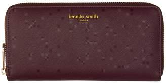 Fenella Smith Burgundy Vegan Leather Purse