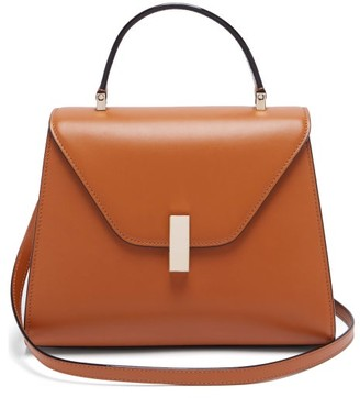 Valextra Iside Medium Leather Bag - Womens - Tan
