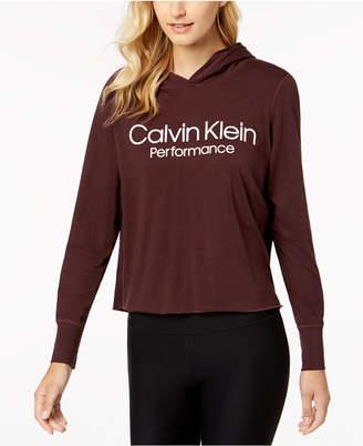 Calvin Klein Logo Cropped Hoodie