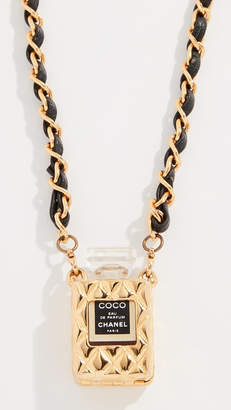 Chanel What Goes Around Comes Around Quilted Perfume Necklace