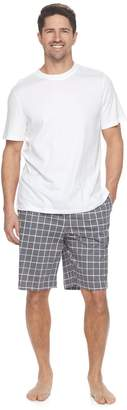 Croft & Barrow Men's True Comfort Solid Tee & Printed Knit Shorts Sleep Set