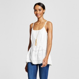 Knox Rose Women's Peplum Knit Tank with Eyelet Detailing $22.99 thestylecure.com