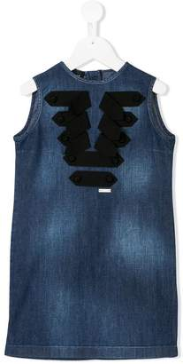 DSQUARED2 TEEN strap denim dress