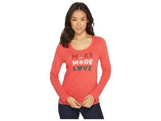 Life is Good Make More Love Long Sleeve Sleep Tee Women's Long Sleeve Pullover