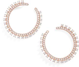 Nordstrom Pave Open Starburst Hoop Earrings