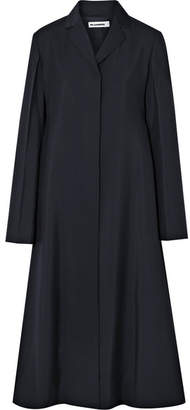 Jil Sander Wool And Mohair-blend Coat - Midnight blue
