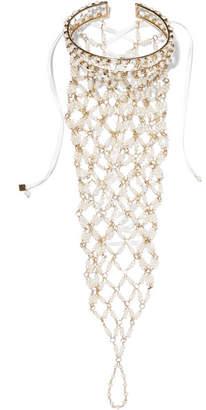 Rosantica Clara Gold-tone Pearl Hand Chain - White