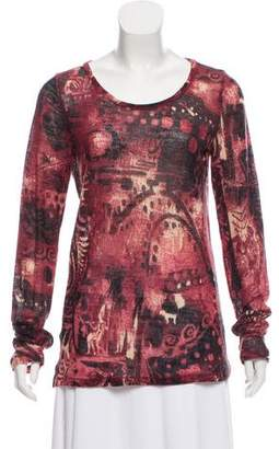 Fuzzi Printed Knit Top w/ Tags