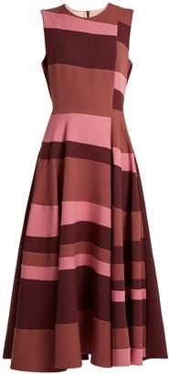 Roksanda Tatum sleeveless colour-block cady dress