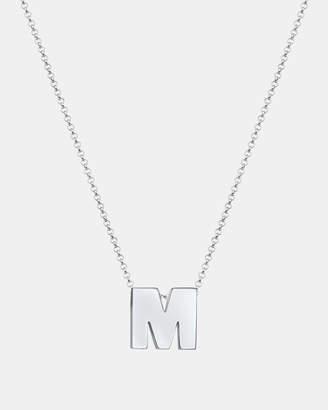 Necklace Pendants Minimal Letter M 925 Sterling Silver
