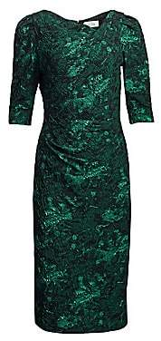 Teri Jon by Rickie Freeman by Rickie Freeman Women's Metallic Jacquard Midi Dress