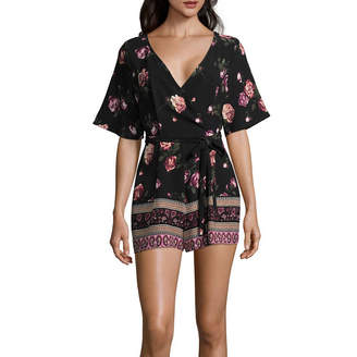 Trixxi Short Sleeve Romper-Juniors