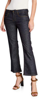Notify Jeans High-Rise Capri Boot-Cut Jeans