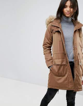 Esprit Faux Fur Hood Parka Jacket