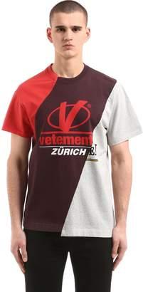 Vetements Patchwork Cotton Jersey T-Shirt