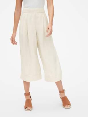 Gap High Rise Wide-Leg Crop Pants in Pure Linen
