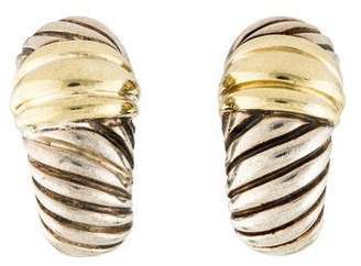 David Yurman Two-Tone Cable Classics Earrings