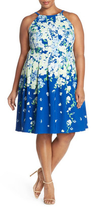 Adrianna Papell Floral Fit & Flare Dress (Plus Size) $160 thestylecure.com