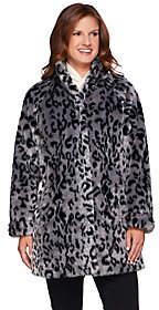 Dennis Basso Platinum Collection Animal PrintA-Line Coat