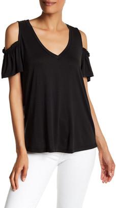 Harlowe & Graham Short Sleeve V-Neck Cold Shoulder Tee $24.97 thestylecure.com