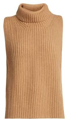 KHAITE Lois Sleeveless Cashmere Sweater - Womens - Beige