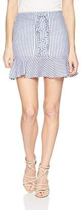 J.o.a. Women's Lace up Front Mini Skirt