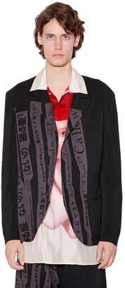 Yohji Yamamoto Writing Printed Viscose Jacket