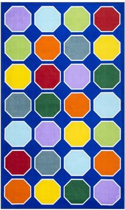 nuLoom Kecia Colorful Octagons Rug