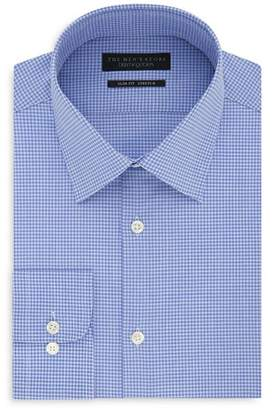 Bloomingdale's The Men's Store at Micro-Check Slim Fit Dress Shirt - 100% Exclusive