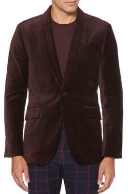 Perry Ellis Big Tall Single-Button Velvet Jacket