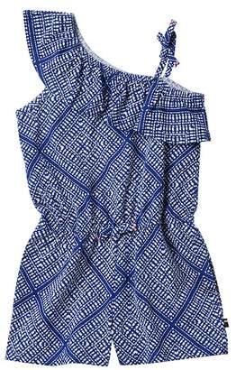 Tommy Hilfiger Printed One Shoulder Romper (Little Girls)