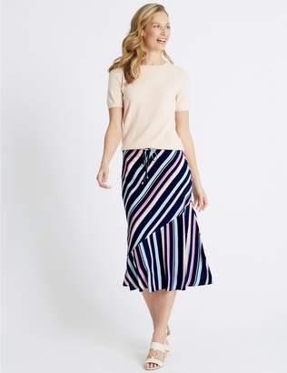 Marks and Spencer Striped Midi Skirt