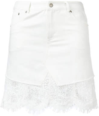 McQ frayed edge skirt