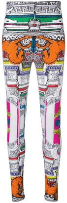 Versace Harlequin print leggings