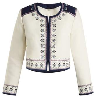 Talitha - Talia Embroidered Cotton Jacket - Womens - Ivory
