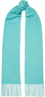 Acne Studios Canada Skinny Fringed Wool Scarf - Turquoise
