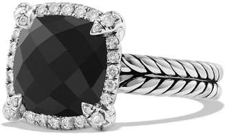 David Yurman 'Chatelaine' Small Pave Bezel Ring with Diamonds