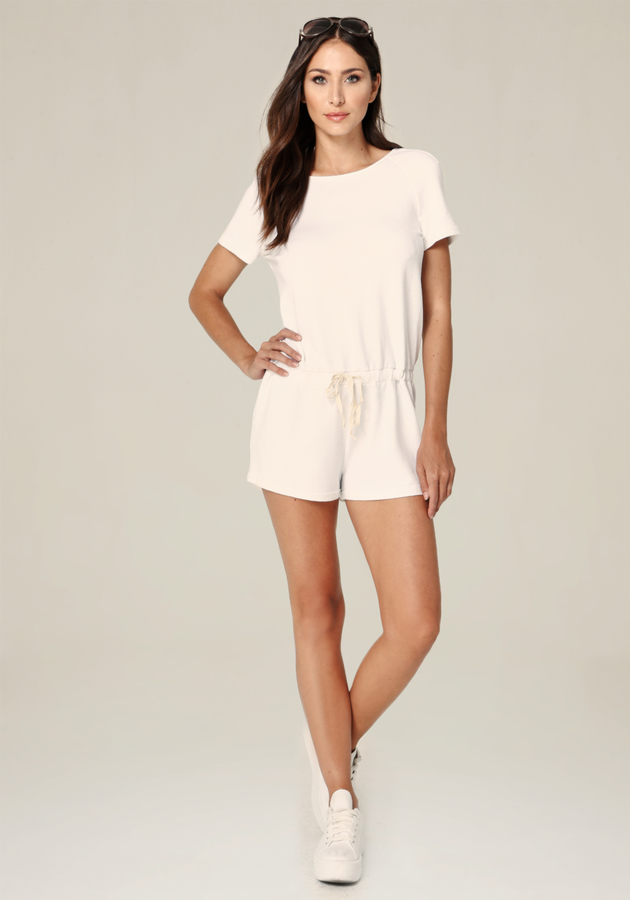 Open Back Drawstring Romper