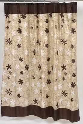Carnation Home Fashions 100-Percent Polyester Fabric Print 70 by 72-Inch Shower Curtain