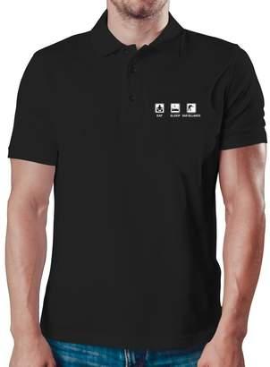 Eddany Eat sleep Bar Billiards Polo Shirt