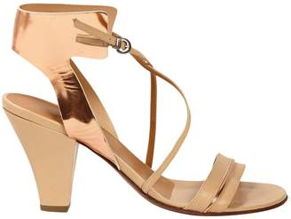 Michel Perry Beige Leather Sandals