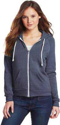 Alternative Women's Adrian Fleece Zip Front Hoodie Sweatshirt