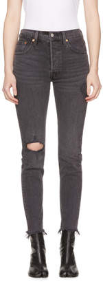 Levi's Levis Black 501 Customized Skinny Jeans