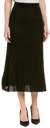Catherine Malandrino Wool-Blend Maxi Skirt