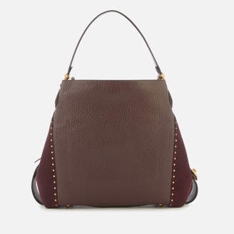 At Mybag Coach Women S Rivets E 42 Shoulder Bag Oxblood