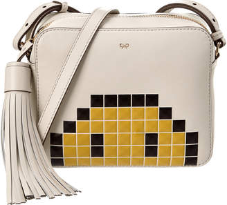 Anya Hindmarch Pixel Smiley Leather Crossbody