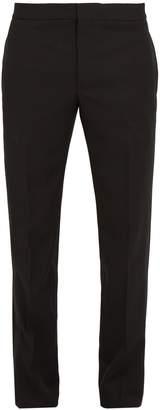 Saint Laurent Slim-leg side-stripe wool tuxedo trousers